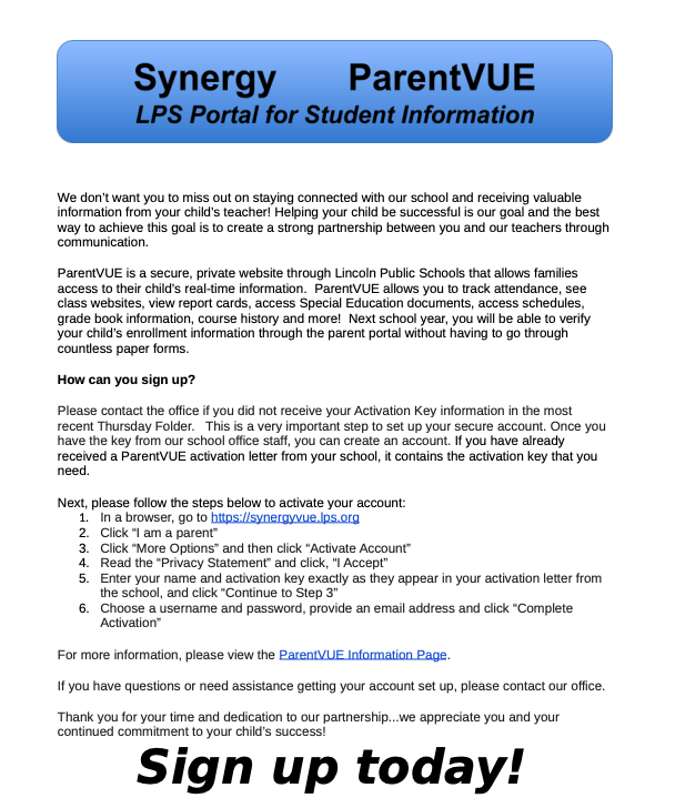 Synergy – ParentVUE